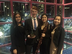 Reaching the Summit - QUT's UBC Sauder Summit winning team (L-R): Celeste Burke, Ryan Nolan, Sheridan Eccleston and Ying Ling Chin.